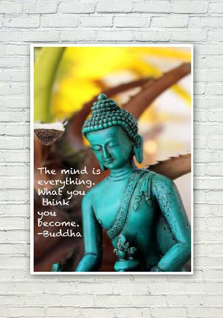 Mind Is Everything Buddha Quote Poster