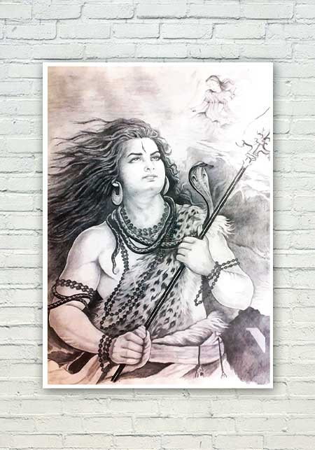 Lord Shiva Sketch Poster