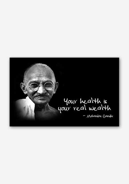 mahatma gandhi motivational quote poster