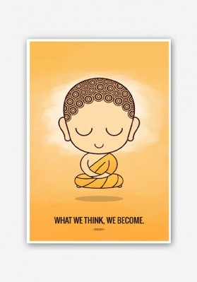 Cute Buddha Quote Poster